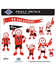 NCAA Texas Tech Red Raiders Family Character Decals, Large