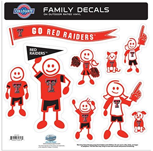 Texas Tech Raiders Große Familie Aufkleber Set