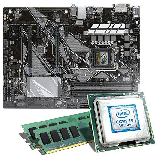 Intel Core i5-8500 / ASUS Z370-P Mainboard Bundle / 16GB | CSL PC Aufrüstkit | Intel Core i5-8500 6x 3000 MHz, 16GB DDR4-RAM, Intel UHD Graphics 630, GigLAN, 7.1 Sound, USB 3.1 | Aufrüstset | PC Tuning Kit