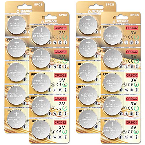 CR2032 3V Batterien CR 2032 Knopfzelle (Lithium Knopfzellen - 3 Volt) (CR2032-20 Stück) 2 Cr2032 Batterien