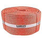 Kanirope® Polypropylenseil SPLIT ø8mm 220m Orange 3-litzig gedreht