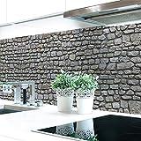 Küchenrückwand Naturstein Grau Premium Hart-PVC 0,4 mm selbstklebend 400x51cm