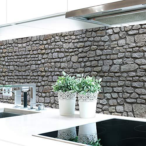 Küchenrückwand Naturstein Grau Premium Hart-PVC 0,4 mm selbstklebend 340x80cm