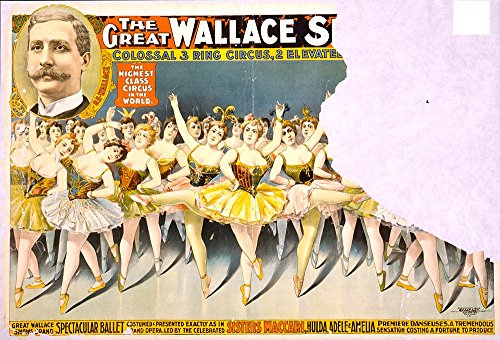 Spiffing Prints The Great Wallace Shows Ballet Circus - Extra Large - Matte Print