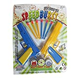 #3: SuperToy(TM) Soft Bullet Toy Gun 2 Guns With 6 Suction Cup Arrows