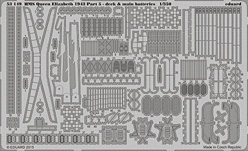 Eduard P/etch 1:350 - HMS Queen Elizabeth 1943 Deck & Main Batteries (TRU05324) - (EDP53149)