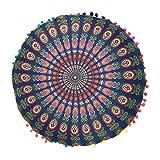 Kicode Ronda de Bohemia Cubierta de tapete Fundas de colchón Dormitorio de la sala de estar Decoraciones exóticas coloridas