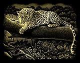Reeves PPCF38 Gold Leopard Baum Kratzbild