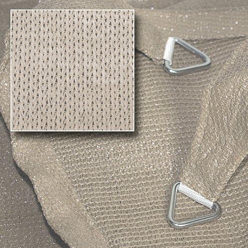 hanSe® Marken Sonnensegel Sonnenschutz Segel Dreieck 3,6×3,6×3,6 m Creme - 2