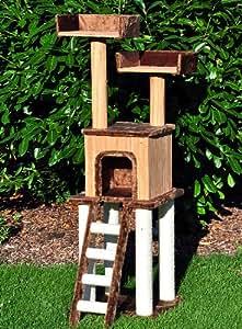 "nanook arbre à chat ""Bamboo"", très stable, poteaux Sisal + Bamboo, 162 cm"