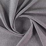 Gardinenstoff, einfarbig, Grau - mehr Stoffe - Idle