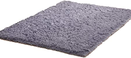 GUIGSI Soft Fluffy Indoor Area Rugs Square Thickening Bedroom Living Room Bedside Carpet Coffee Table Mat