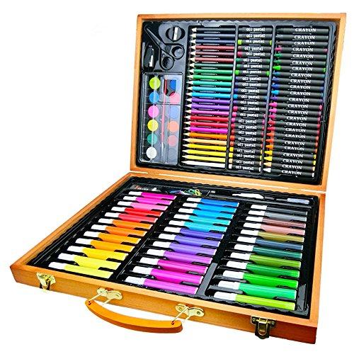 Wanlianer penna di vernice forniture per pittura per bambini delle scuole elementari 150 set di elementi decorativi in legno con penna e penna segna la penna