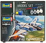 Revell Modellbausatz Flugzeug 1:72 - F-4J Phantom II im Maßstab 1:72, Level 3, originalgetreue Nachbildung mit Vielen Details, Model Set mit Basiszubehör, 63941