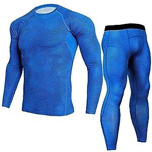 Herren Trainingsanzug Kompression Jogginganzug Funktions Sportanzug Jogging Anzug Schnell Trocknend Hausanzug…