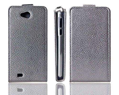 caseroxx Hülle/Tasche Flip Cover passend für Medion Life E4503, Schutzhülle (Handytasche klappbar in schwarz)