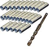 M12 Befestigungsdübel Beton für Kernbohrständer wahlweise 25-100 Stück inkl. SDS-Plus Bohrer