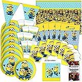 Minions Partybox original Kindergeburtstag 51-teilig Deko Minion Partypaket