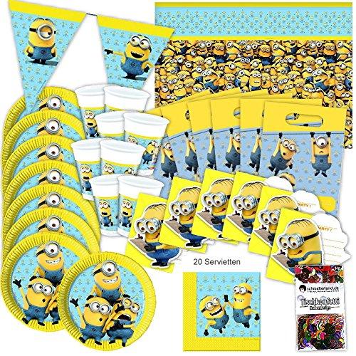ginal Kindergeburtstag 51-teilig Deko Minion Partypaket ()