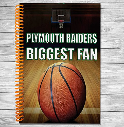 Plymouth Raiders Biggest Fan A5 Basketball Notebook/Notepad/Zeichnen (Weihnachten Elf Maskottchen)