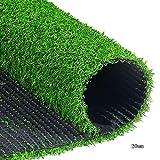WENZHE Rasenteppich Rasenteppich Kunstrasen Kunstrasenteppich Sonnencreme Teppich Draussen Innen Auf Dem Dach Terrasse Begrünung 4 Dicken, Größe Anpassbar (Farbe : 20mm, größe : 2x5m)