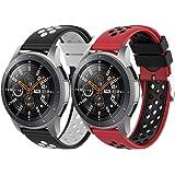 Songsier Compatible con Correa Gear S3 Frontier/Galaxy Watch 3 45mm/Galaxy Watch 46mm/Gear 2 /Huawei Watch GT2 46mm/Watch GT