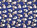 Xmas Pinguine Weihnachten Print Polycotton Kleid Stoff