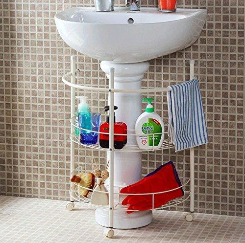 Ensemble de rangement multifonctionnel pour salle de bain à double étagère