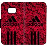 Coque Samsung Galaxy S7 Edge Étui en cuir pour portefeuille [Red_Roses_Beautiful_Adidas Logo One ] [Card Slot] [Flip] [Wallet] [Stand] Carry-All Case pour Samsung Galaxy S7 Edge E4O5B