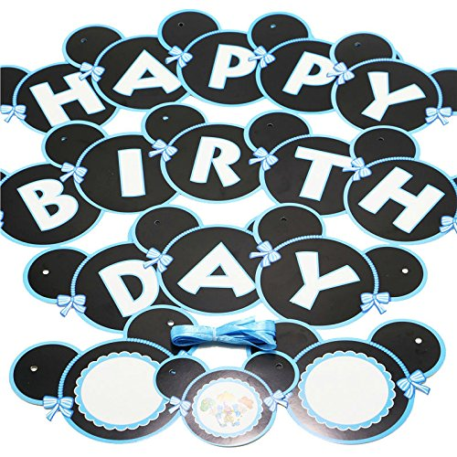 20 OFF On Happy Birthday Banner With Balloons Party Supplies Kit