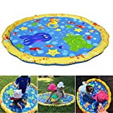 leegoal Splash Pad, Kids Water Sprinkle und Splash Play Mat Wasserspray Toy Kinder Baby Pool Pad...