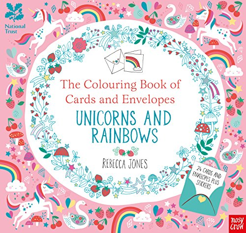 The Colouring Book of Cards and Envelopes Unicorns and Rainbows (Colouring Books of Cards and Envelopes)