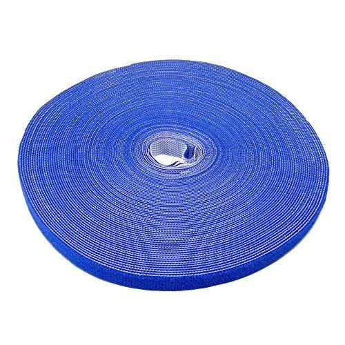 Preisvergleich Produktbild Label-the-cable Klettbandrolle doppelseitig (Haken & Flausch), Klettkabelbinder zuschneidbar, Velours-Qualität, geeignet als Kabelbinder, Klettband/ PRO Roll bl, 1 Stück, 25 m x 16 mm, Blue, PRO 1250