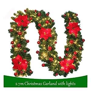 Weihnachtsgirlande Mit Beleuchtung : willkey weihnachtsgirlande tannengirlande mit beleuchtung weihnachtsdeko diy girlande ~ Watch28wear.com Haus und Dekorationen