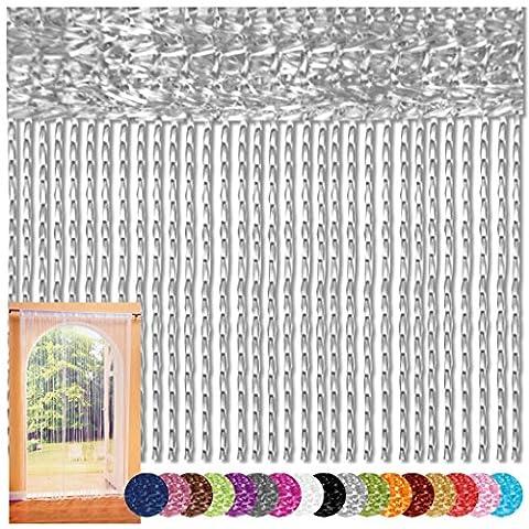 Fadenvorhang 140x240 Fadengardine Insektenschutz Raumteiler Auswahl: silber -
