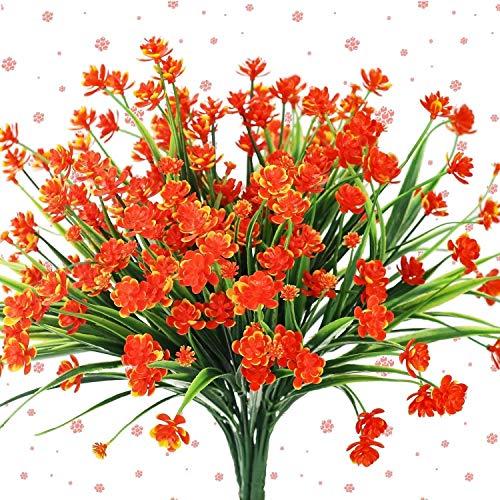 4 Stücke Künstliche Pflanzen Faux Gefälschte Gypsophila Sträucher Simulation Grün Sträucher Hochzeit Mittelstücke Tabelle Blumenarrangement Bouquet,Red
