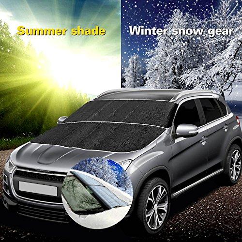 Shield-parabrezza-auto-universale-pellicola-protettiva-antipolvere-per-neve-ghiaccio-Sole-e-antivento-anti-uv-doppio-uso-Covers