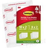 Command Small and Medium Picture Hanging Strips, Envelope Pack Containing 10 x Small Pairs and 8 x Medium Pairs