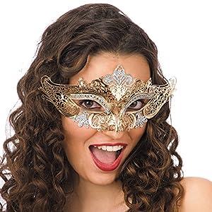 Carnival Toys 00707 - máscara para adultos, metal, amarillo