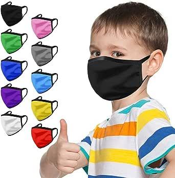 NEEKY 5/10 Stücke Junge Mädchen mund und Nasenschutz,waschbar Kinder Staubdicht Multifunktional Halstuch Schlauchtuch Schlauchschal