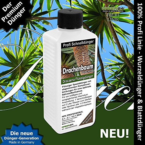 Drachenbaum-Dünger Dracaena HIGH-TECH NPK Volldünger Profi Linie. Drachenbäume düngen!