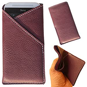 Lenovo P1m - New Stylish Pu Leather Mobile Protector Pouch Cover By eSyon - Purple