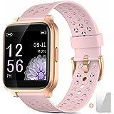 Smart klocka - Fitness Trackers för män och kvinnor, pekskärm smartklocka med pulsmätare, vattentät IP68 aktivitetsmätare sto