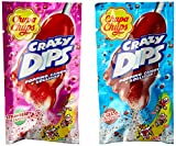 Chupa Chups Crazy Dips Lutscher Erdbeere 24er Display, 1er Pack (1 x 384 g)