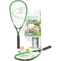 Speedminton Unisex Start - Original Speed Badminton/Crossminton Starter Inklusive 2 Speeder Badminton Set, Grün/Blau…