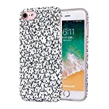 ZQ-Link Cover iPhone 8/7, Silicone Custodia Trasparente Morbida Case [Ultra Sottile] Flessibile TPU Custodia Cover con Disegni per iPhone 7/8 - bello gatto