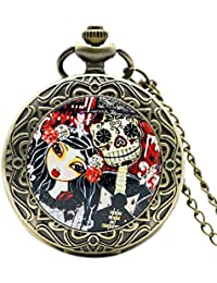 2016 New Design Corpse Bride Pendant Watch High Quality Quartz Pocket Watch For Gift