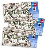 cardbox Motiv: Dollar /// 3er SET /// ec-Kartenhülle, Scheckkartenhülle, Bankkartenhülle mit originellem Motiv