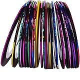 P.S Retail 30Pcs 30 Multicolor Mixed Colors Rolls Striping Tape Line Nail-Art ,Multicolor