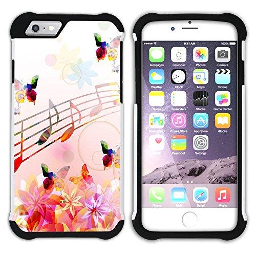 Graphic4You Grün Und Schwarz Schmetterling Schmetterlinge Fliegen Blume Blumen Design Hart + Weiche Kratzfeste Hülle Case Schale Tasche Schutzhülle für Apple iPhone 6 Plus / 6S Plus Design #12